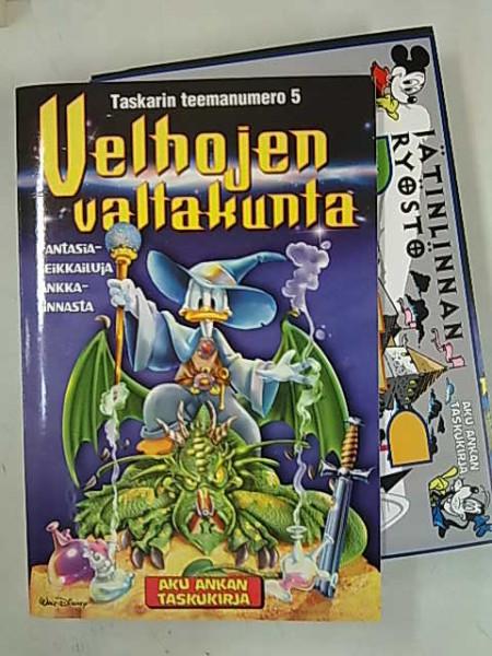 Aku Ankan taskukirja Taskarin teemanumero 5 Velhojen valtakunta (mukana liite Jäntinlinnan ryöstö -lautapeli),