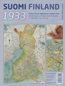 Suomi Finland 1933, Suomen kartan näköispainos vuodelta 1933 1:1 000 000,