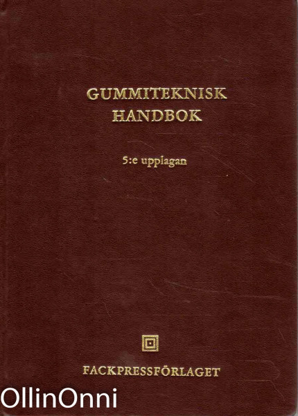 Gummiteknisk handbok (The Swedish rubber handbook), Bengt Lizell