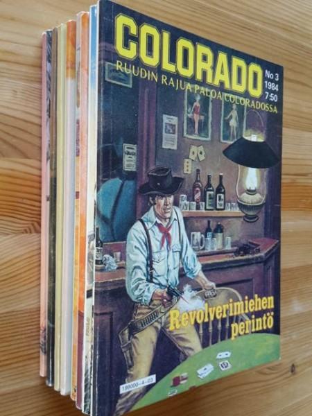 Colorado -paketti 9 kpl - 1984: 3; 1985: 4, 5, 8; 1986: 1, 5, 6; 1987: 1, 2,