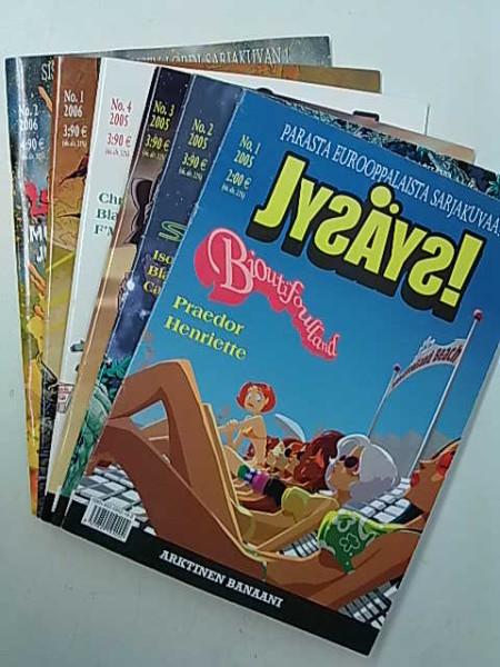 Jysäys! 2005 nrot 1-4, 2006 nrot 1-2 (6 lehteä),
