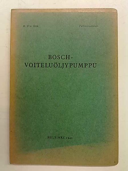 Bosch-voiteluöljypumppu,