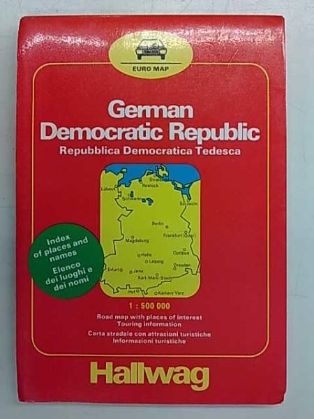 Euro Map 1:500.000 - Deutsche Demokratische Republik. Rëpublique Démocratique Allemande. German Democratic Republic. Repubblica Democratica Tedesca.,