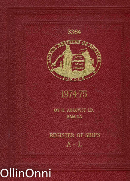 Register Book 1974-75 - Register of Ships A-L, Ei tiedossa