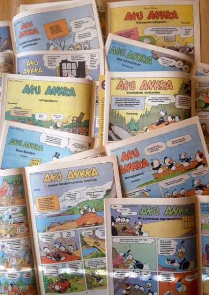 Carl Barks 10 toivesarjaa - Aku Ankka 1987 nrot 1, 4, 13, 22, 26, 30, 34, 39, 43, 48, Carl Barks