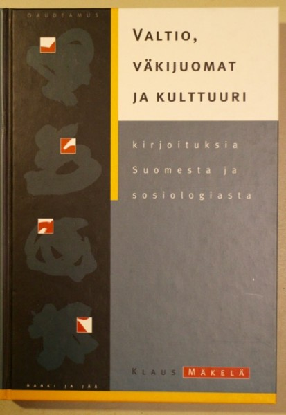 Valtio, väkijuomat ja kulttuuri - kirjoituksia Suomesta ja sosiologiasta, Klaus Mäkelä
