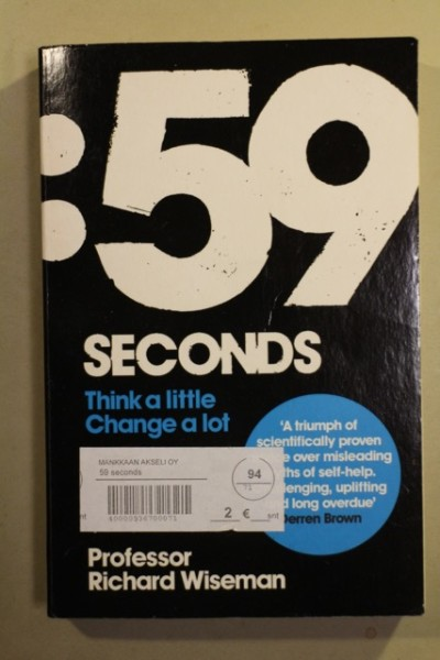 :59 Seconds - Think a little Change a lot, Richard Wiseman
