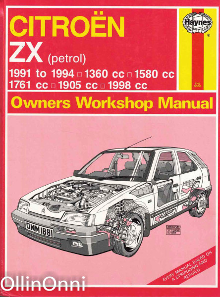 Citroen ZX (petrol) 1991 to 1994 - Owners Workshop Manual, Mark Coombs