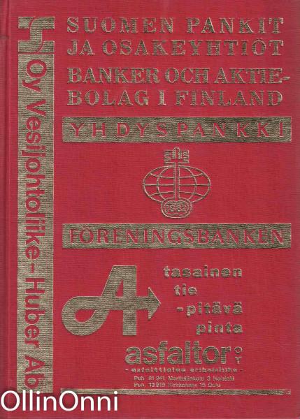 Suomen pankit ja osakeyhtiöt 1971 - Banker och aktiebolag i Finland 1971, Ei tiedossa